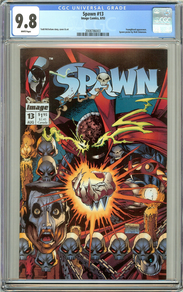 Spawn #13 CGC 9.8 White Pages (1993) 2008786003