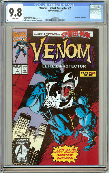 Venom Lethal Protector #2 CGC 9.8 White Pages 2008786007 Marvel Movie