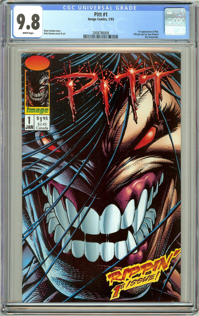 Pitt #1 CGC 9.8 White Pages 2008786008