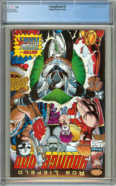 Youngblood #2 CGC 9.8 White Pages (1992) 2008786010