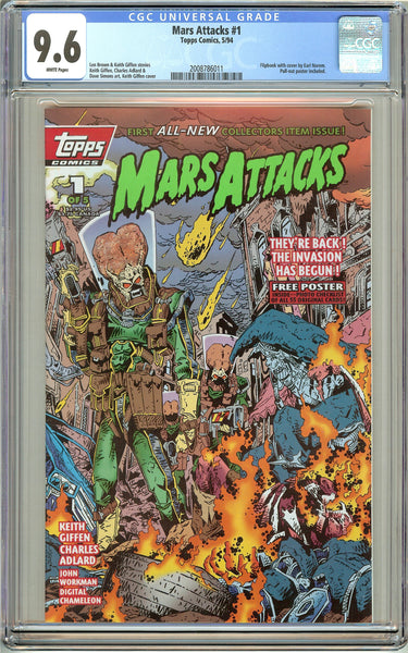 Mars Attacks #1 Topps Comics (1994) CGC 9.6 White Pages 2008786011