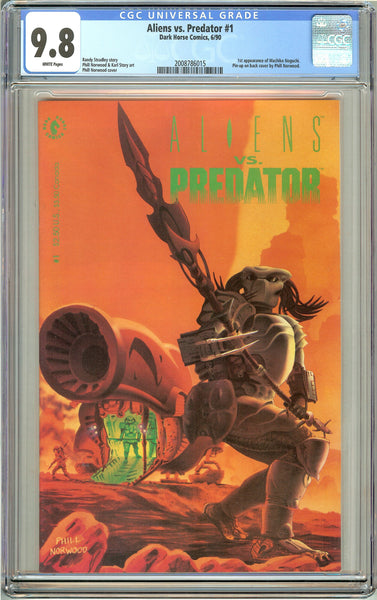 Aliens vs. Predator #1 CGC 9.8 White Pages (1990) 2008786015