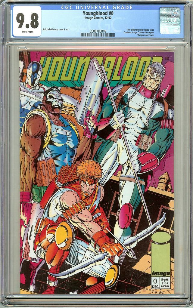 Youngblood #0 CGC 9.8 White Pages (1992) 2008786016