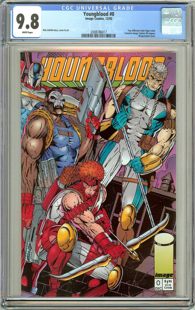 Youngblood #0 CGC 9.8 White Pages (1992) 2008786017