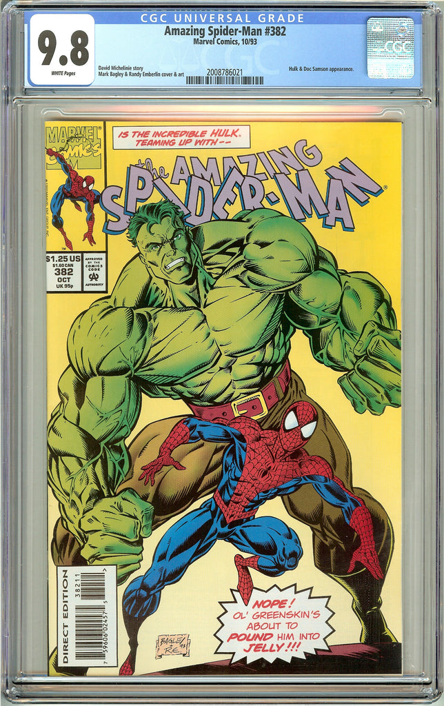 Amazing Spider-Man #382 CGC 9.8 White Pages (1993) 2008786021