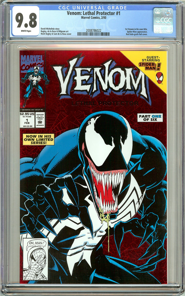 Venom Lethal Protector #1 CGC 9.8 White Pages 2008786022 Marvel Movie