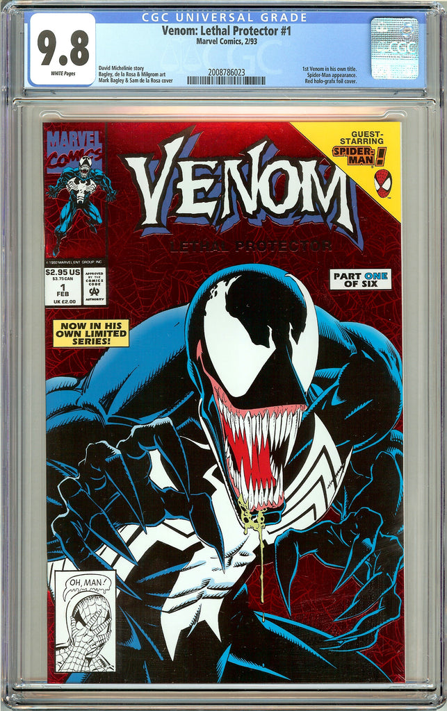 Venom Lethal Protector #1 CGC 9.8 White Pages 2008786023 Marvel Movie