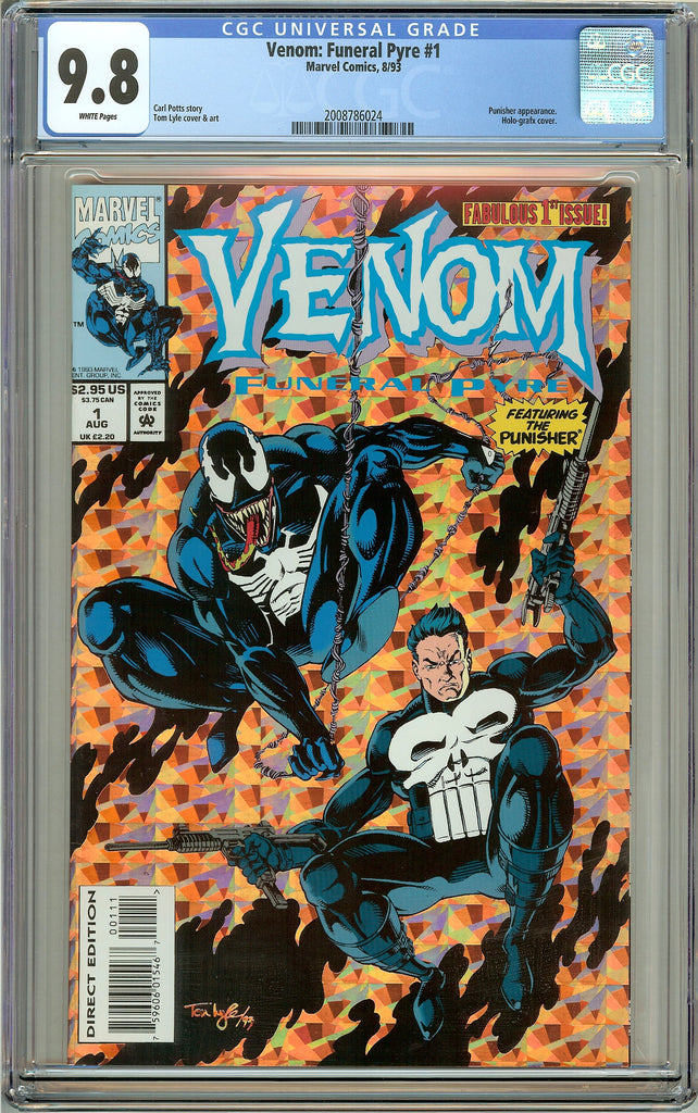 Venom Funeral Pyre #1 CGC 9.8 White Pages (1993) 2008786024