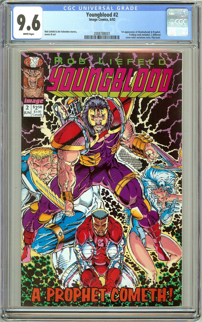 Youngblood #2 CGC 9.6 White Pages (1992) 2008788001