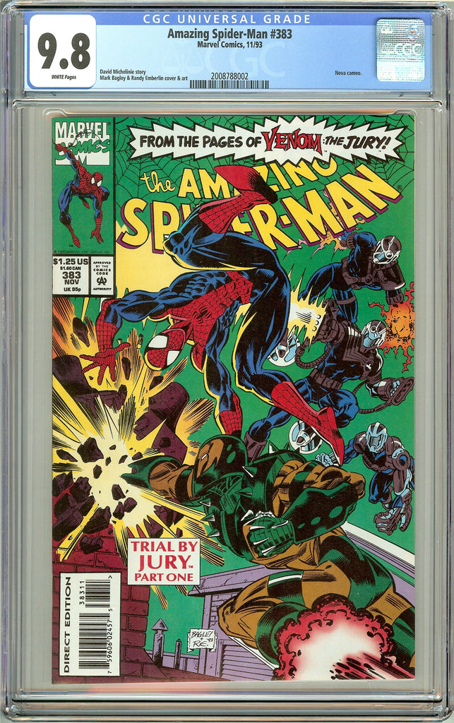 Amazing Spider-Man #383 CGC 9.8 White Pages (1993) 2008788002