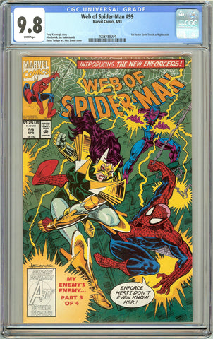 Web of Spider-Man #99 CGC 9.8 White Pages (1993) 2008788004