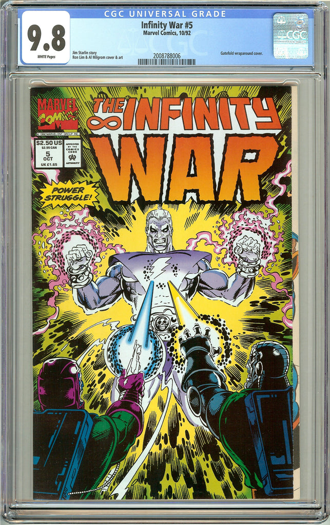 Infinity War #5 CGC 9.8 White Pages (1992) 2008788006