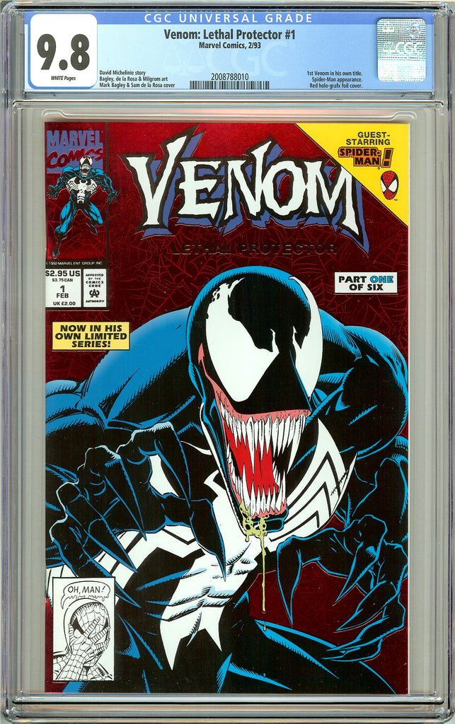 Venom Lethal Protector #1 CGC 9.8 White Pages 2008788010 Marvel Movie