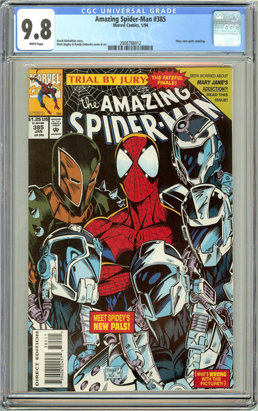 Amazing Spider-Man #385 CGC 9.8 White Pages (1994) 2008788012