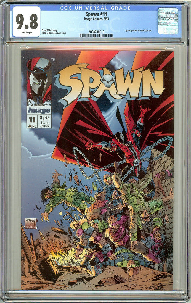 Spawn #11 CGC 9.8 White Pages (1993) 2008788018
