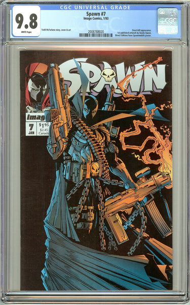 Spawn #7 CGC 9.8 White Pages (1993) 2008788020