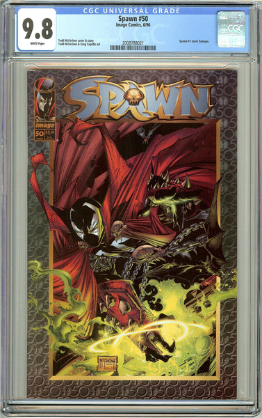 Spawn #50 CGC 9.8 White Pages 2008788021