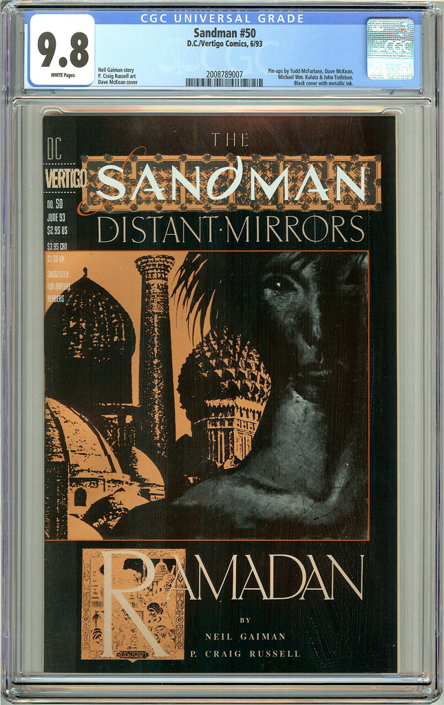 Sandman #50 CGC 9.8 White Pages (1993) 2008789007