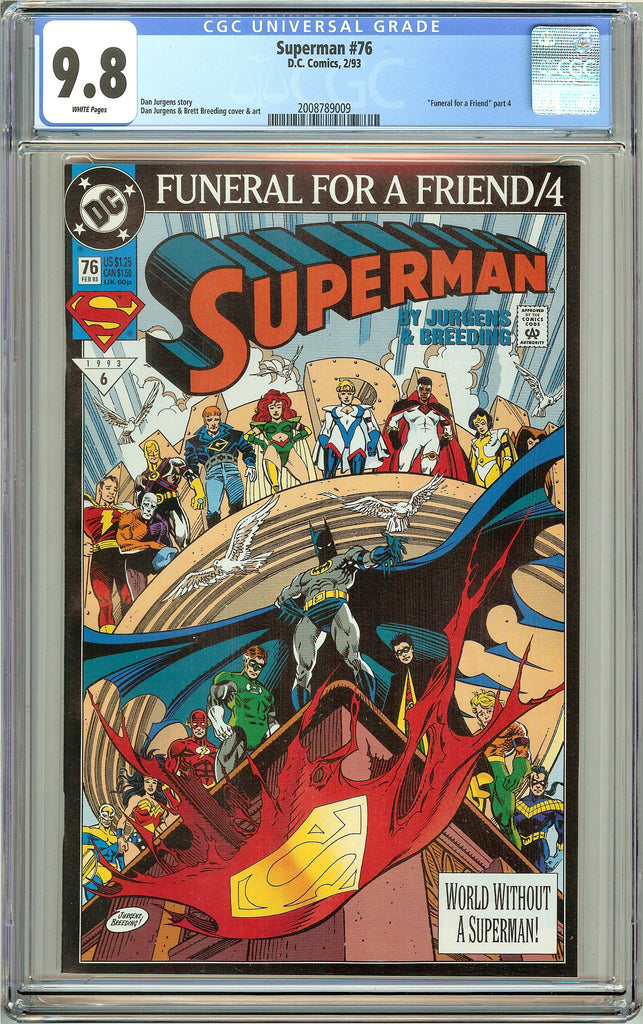 Superman #76 CGC 9.8 White Pages (1993) 2008789009