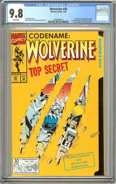 Wolverine #50 CGC 9.8 White Pages (1992) 2008789013