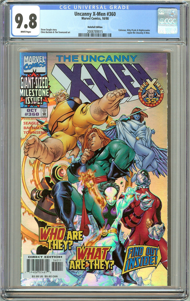 Uncanny X-Men #360 CGC 9.8 White Pages (1998) 2008789015 Holofoil Edition