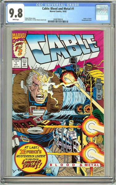 Cable Blood and Metal #1 CGC 9.8 White Pages (1992) 2008789016