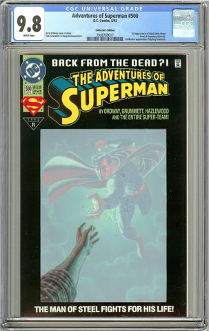 Adventures of Superman #500 CGC 9.8 White Pages 2008789017