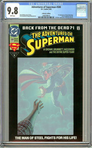Adventures of Superman #500 CGC 9.8 White Pages 2008789018