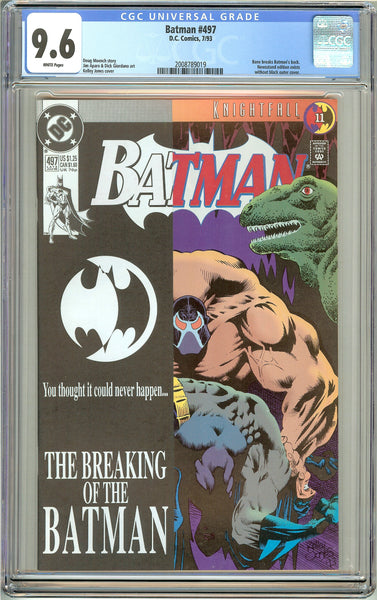 Batman # 497 CGC 9.6 White Pages (1993) 2008789019