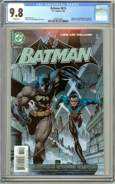 Batman # 615 CGC 9.8 White Pages (2003) 2008789023