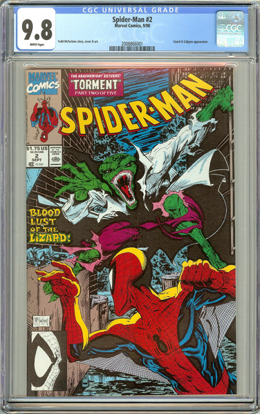 Spider-Man #2 CGC 9.8 White Pages (1990) 2008866001