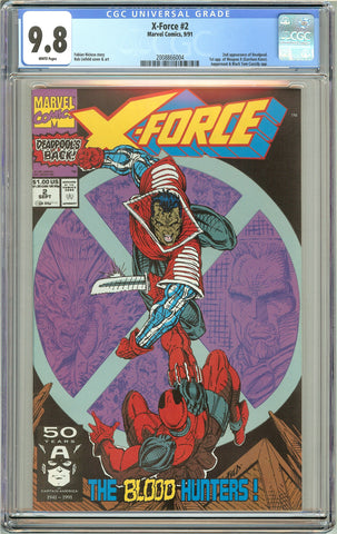 X-Force #2 CGC 9.8 White Pages (1991) 2008866004 Deadpool