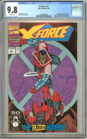 X-Force #2 CGC 9.8 White Pages (1991) 2008866005 Deadpool