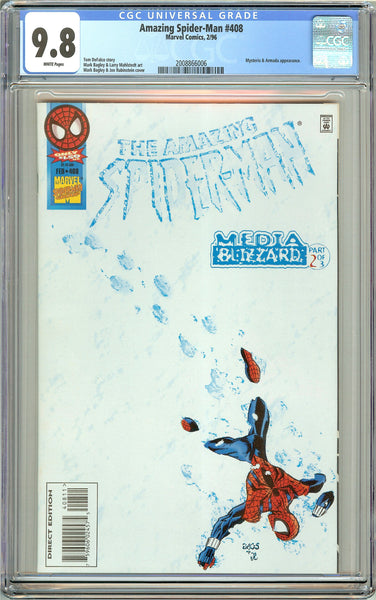Amazing Spider-Man #408 CGC 9.8 White Pages 2008866006