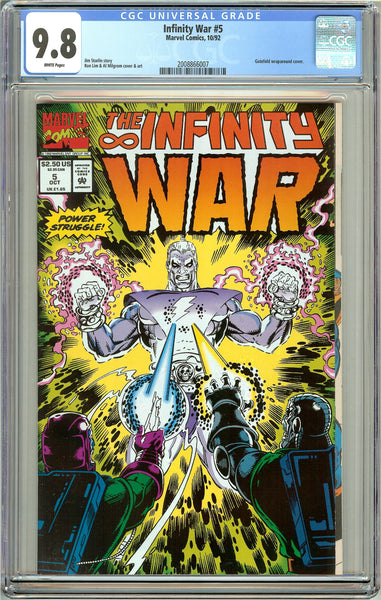 Infinity War #5 CGC 9.8 White Pages (1992) 2008866007