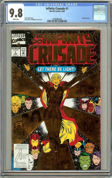 Infinity Crusade #1 CGC 9.8 White Pages (1993) 2008866008