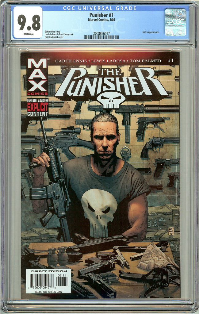 Punisher  #1 CGC 9.8 White Pages (2004) 2008866017