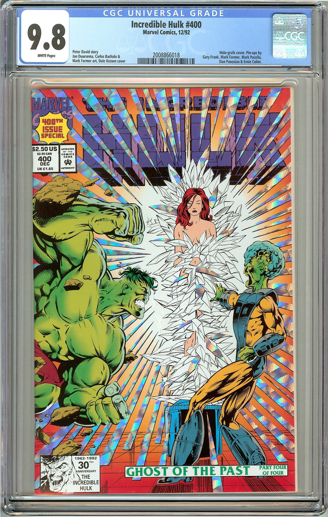Incredible Hulk #400 CGC 9.8 White Pages (1992) 2008866018