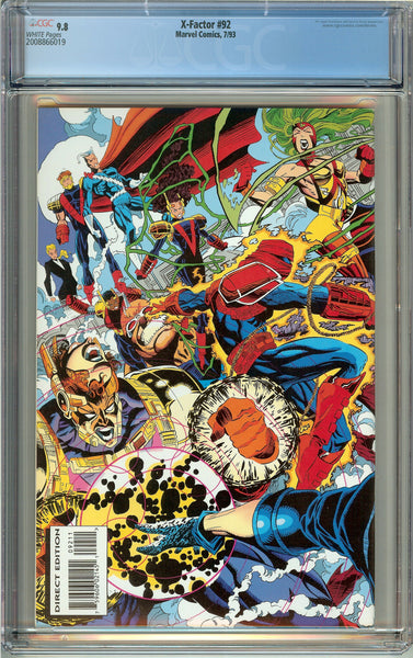 X-Factor #92 CGC 9.8 White Pages (1993) 2008866019 1st Exodus