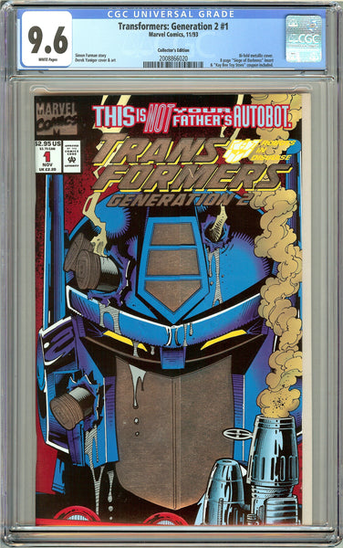 Transformers Generation 2 #1 CGC 9.6 White Pages (1993) 2008866020