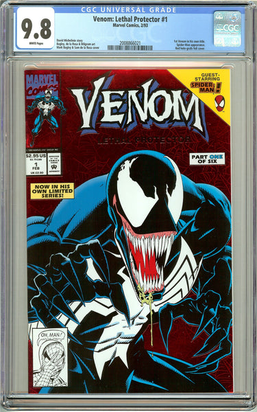Venom Lethal Protector #1 CGC 9.8 White Pages 2008866021 Marvel Movie