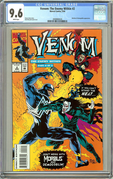 Venom The Enemy Within #2 CGC 9.6 White Pages 2008866024