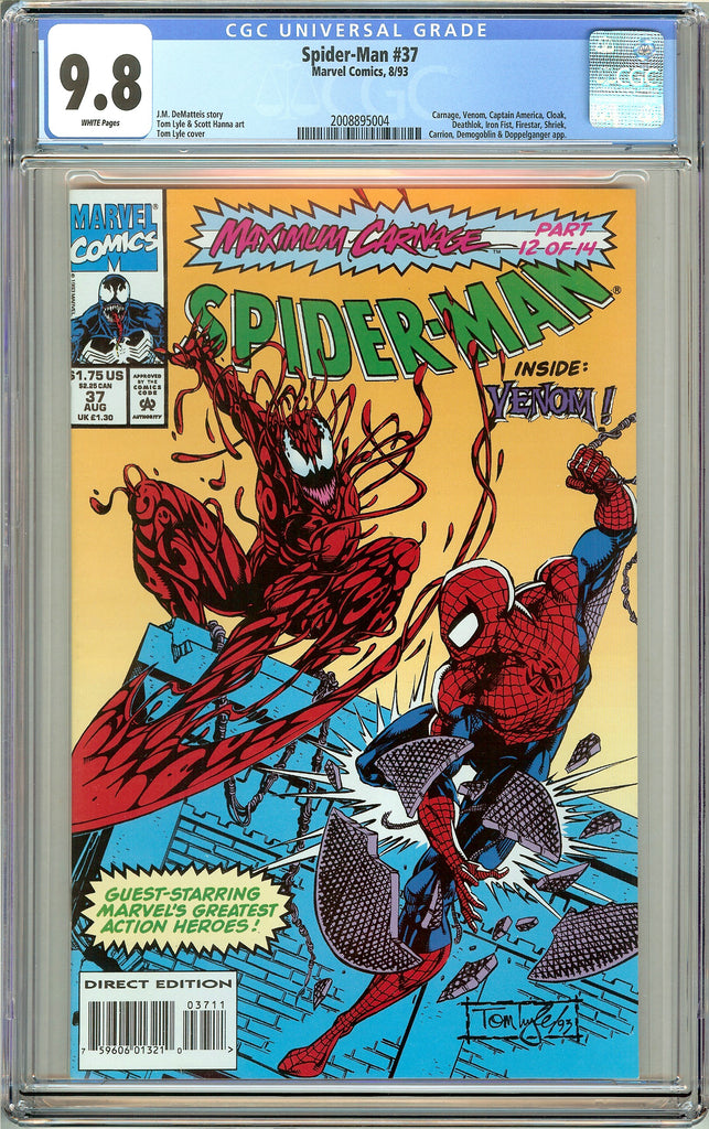 Spider-Man #37 CGC 9.8 White Pages 2008895004 Venom