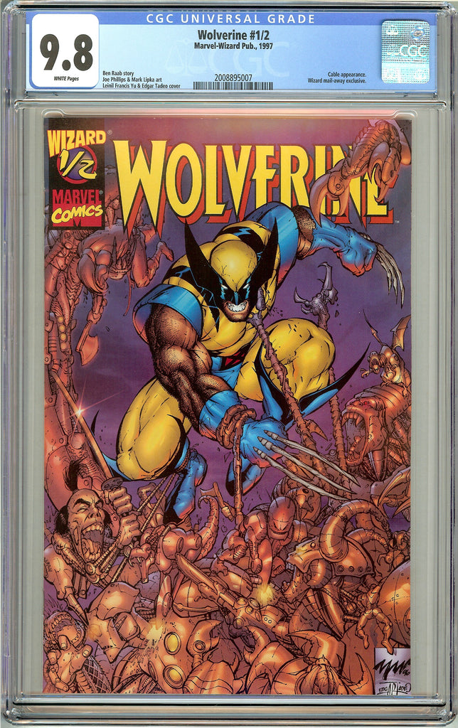Wolverine #1/2 CGC 9.8 White Pages (1997) 2008895007 Wizard Mail Away