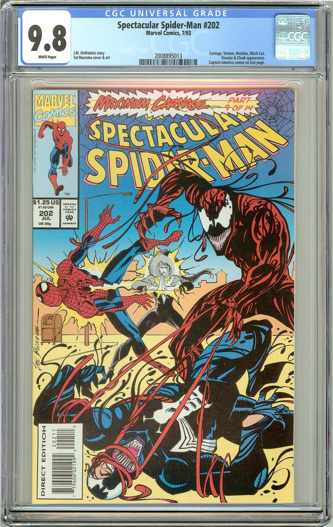 Spectacular Spider-Man #202 CGC 9.8 White Pages (1993) 2008895013
