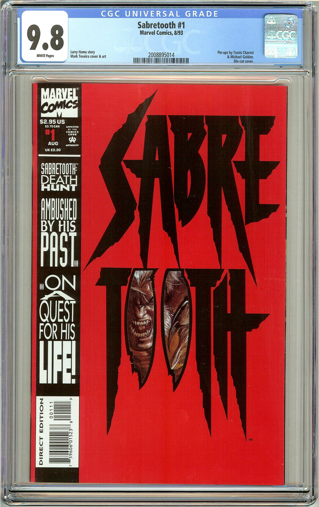 Sabretooth #1 CGC 9.8 White Pages (1993) 2008895014