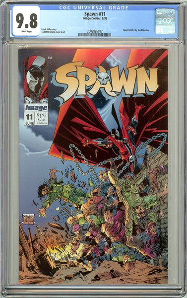 Spawn #11 CGC 9.8 White Pages (1993) 2008895017