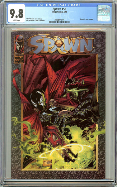 Spawn #50 CGC 9.8 White Pages 2008895019