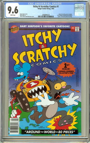 Itchy & Scratchy Comics #1 CGC 9.6 White Pages (1993) 2008895024