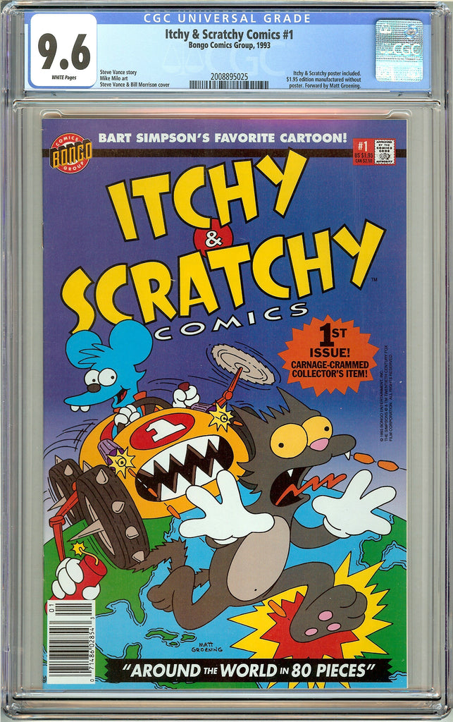 Itchy & Scratchy Comics #1 CGC 9.6 White Pages (1993) 2008895025